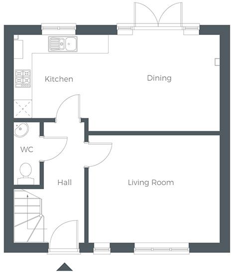 Three bedroom semi-detached family home