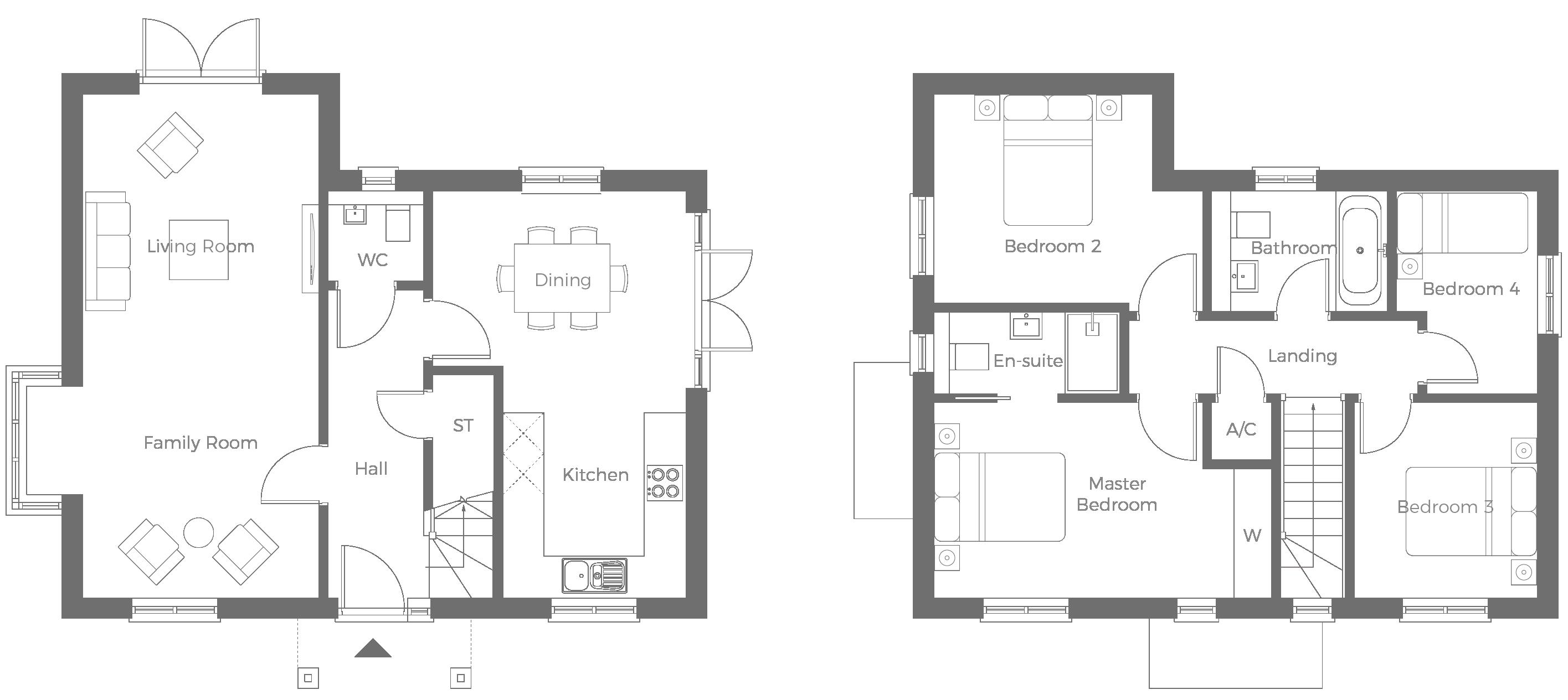 The Blenheim 4 bedroom detached home with adjacent garage